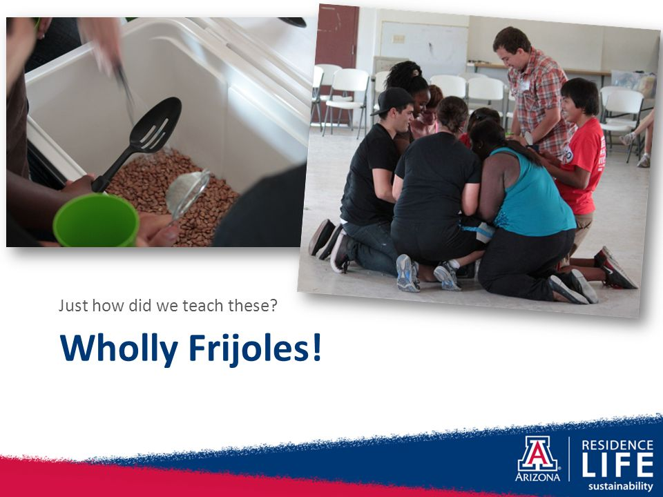 Wholly Frijoles! Just how did we teach these?