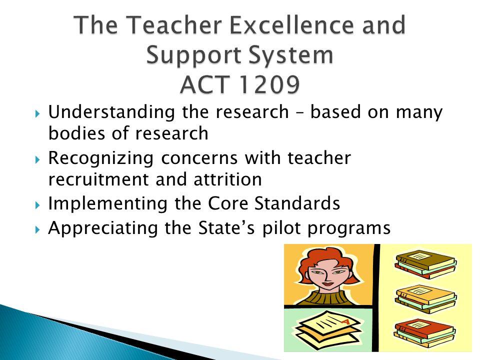  Identifying multiple measures of teacher performance.