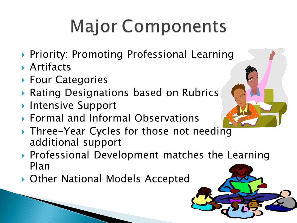  Distinguished  Proficient  Basic  Unsatisfactory  It is VERY important to start having conversations with teachers about these categories.