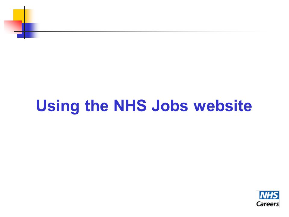 Using the NHS Jobs website