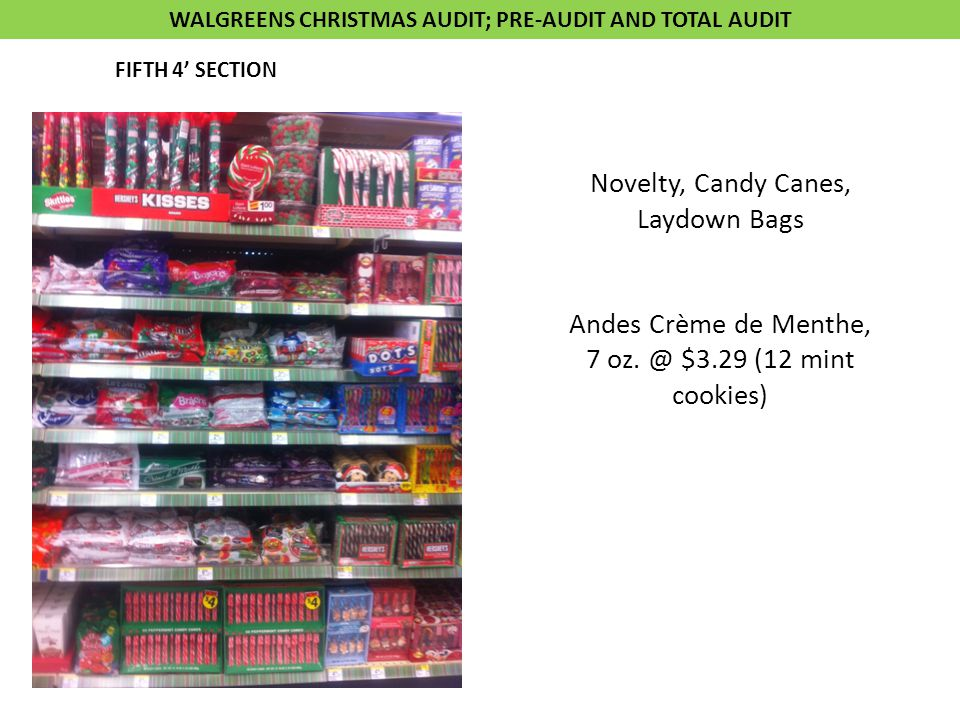 Novelty, Candy Canes, Laydown Bags Andes Crème de Menthe, 7 oz.