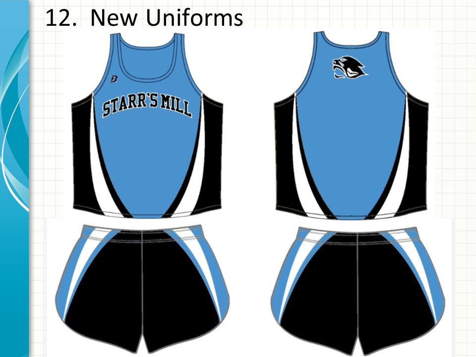 12. New Uniforms