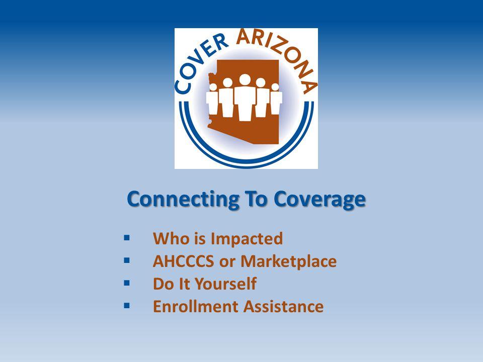 Employer sponsored Insurance: 46 Uninsured: 18 (1.2 million) Medicaid (AHCCCS): 18 Medicare: 13 Private Insurance : 4 Other Public If Arizona Had 100 People