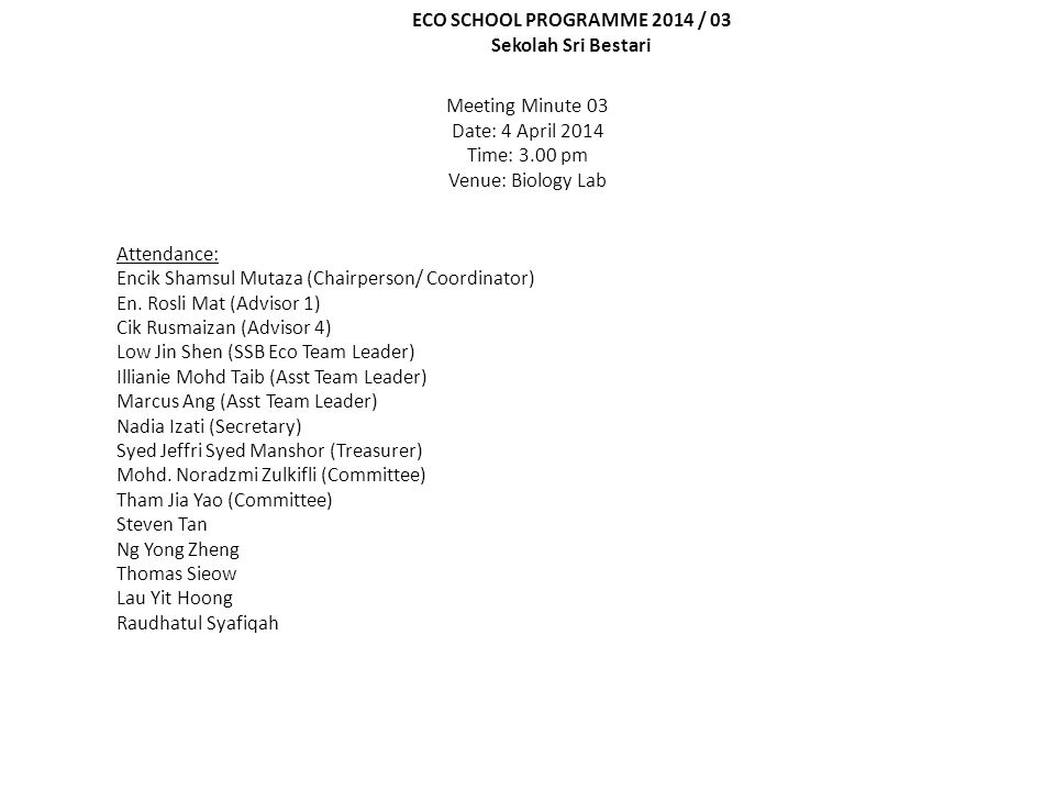 AgendaParticulars/DetailAction 1.0 Earth Hour 2014  En.