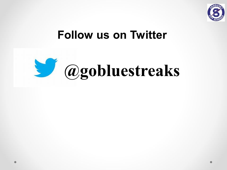 @gobluestreaks Follow us on Twitter