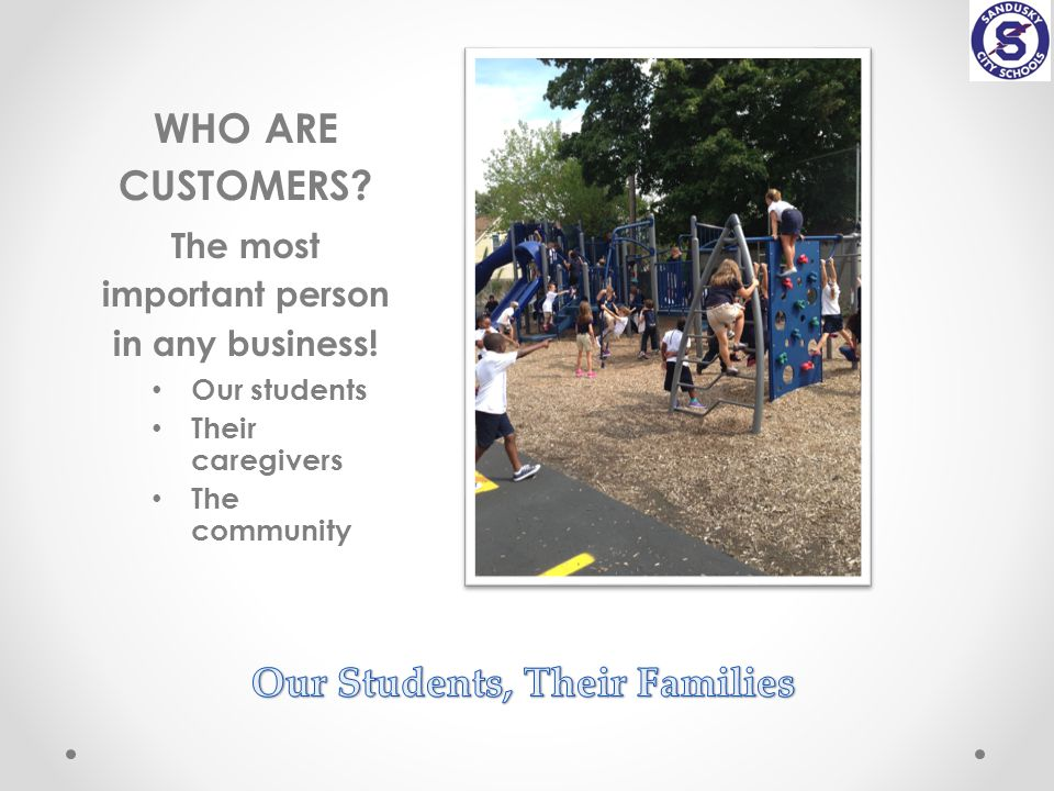 WHO ARE CUSTOMERS. The most important person in any business.