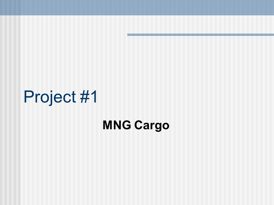 Project #1 MNG Cargo