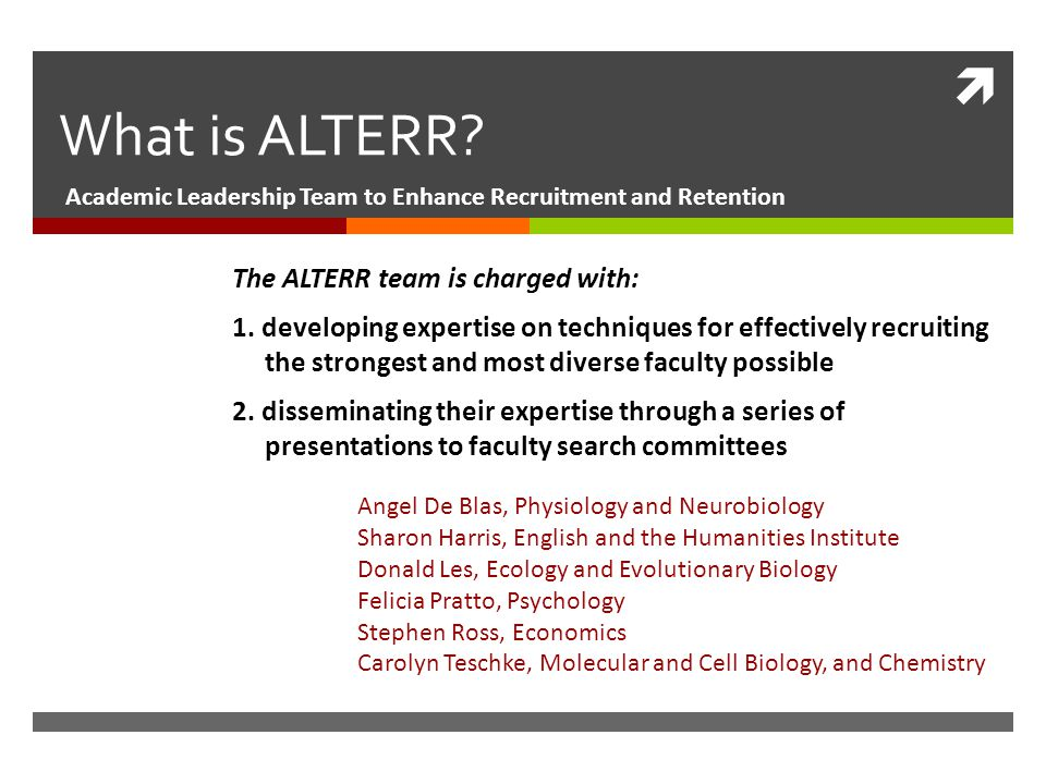  What is ALTERR.
