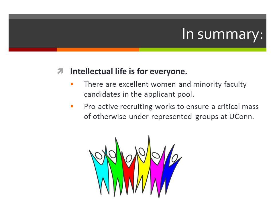 In summary:  Intellectual life is for everyone.