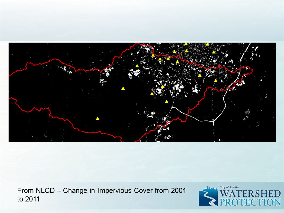 From NLCD – Change in Impervious Cover from 2001 to 2011