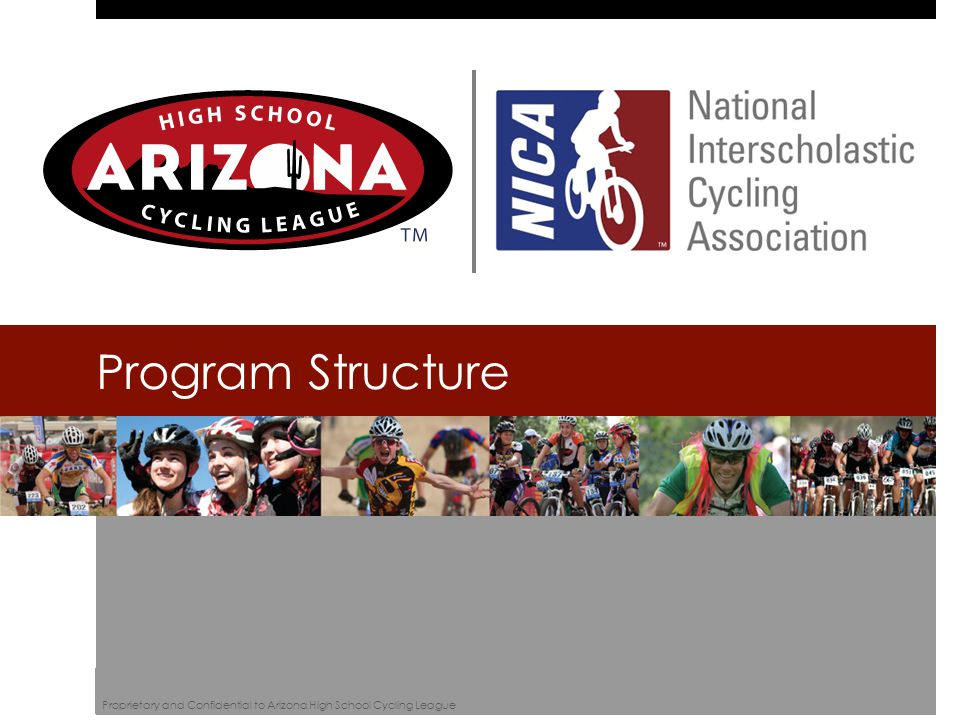 Program Structure Proprietary and Confidential to Arizona High School Cycling League