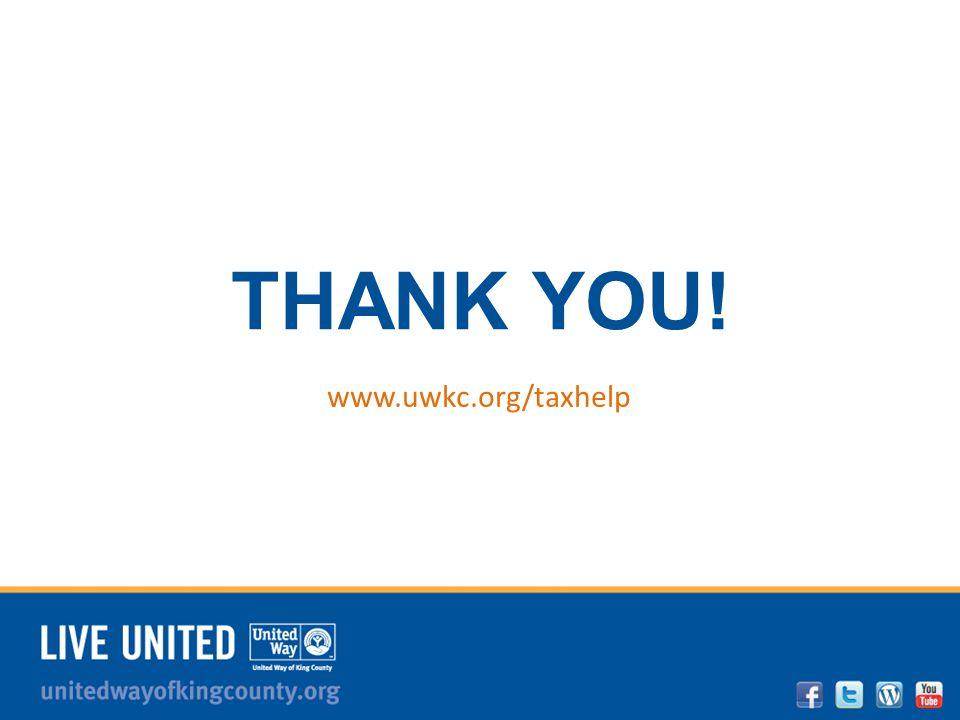 unitedwayofkingcounty.org THANK YOU! www.uwkc.org/taxhelp