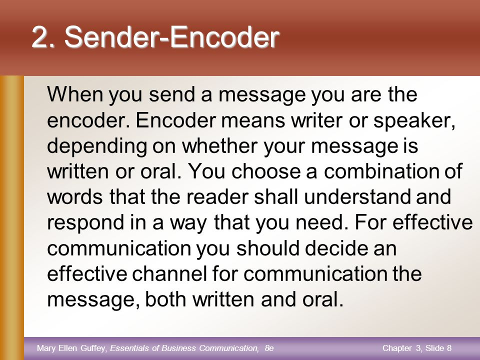 Mary Ellen Guffey, Essentials of Business Communication, 8eChapter 3, Slide 7 1.