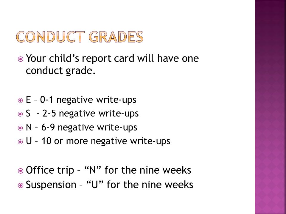  Our grading policy is stated in the Student/Parent Handbook.
