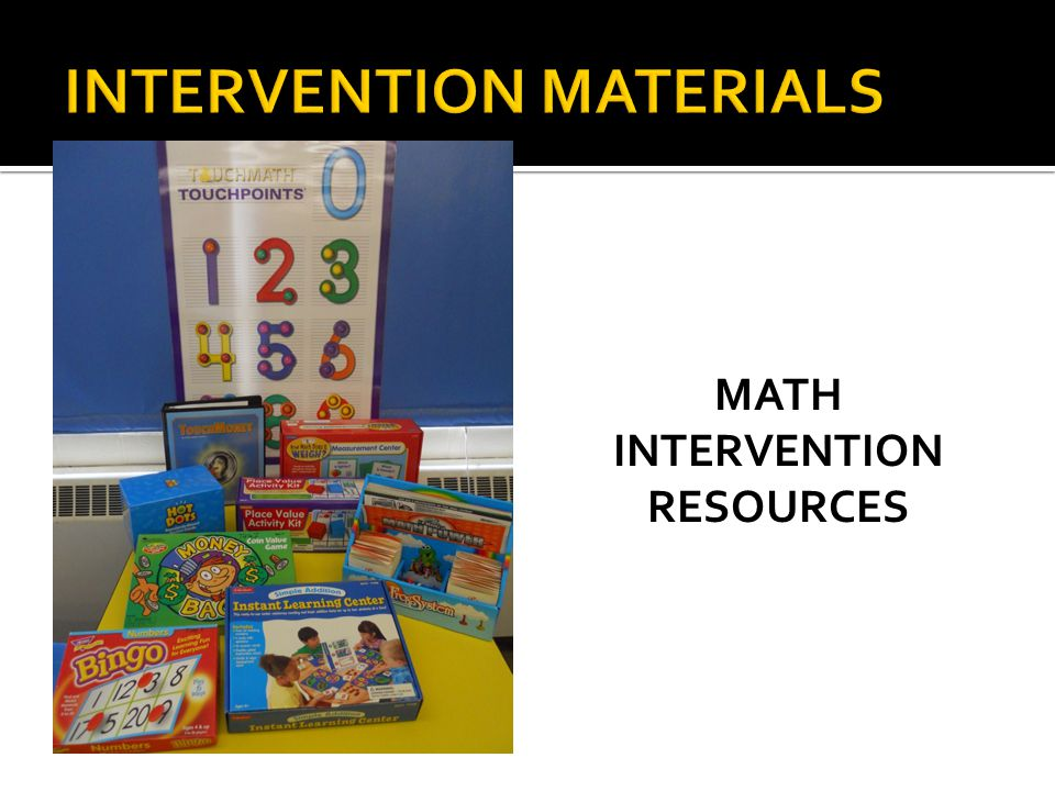 MATH INTERVENTION RESOURCES