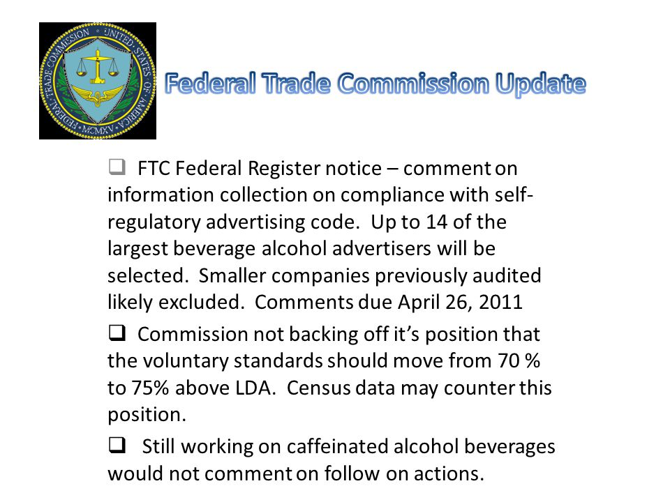 FTC Federal Register notice – comment on information collection on compliance with self- regulatory advertising code.