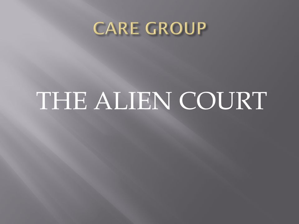 THE ALIEN COURT