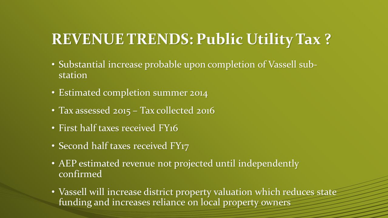 REVENUE TRENDS: Public Utility Tax .