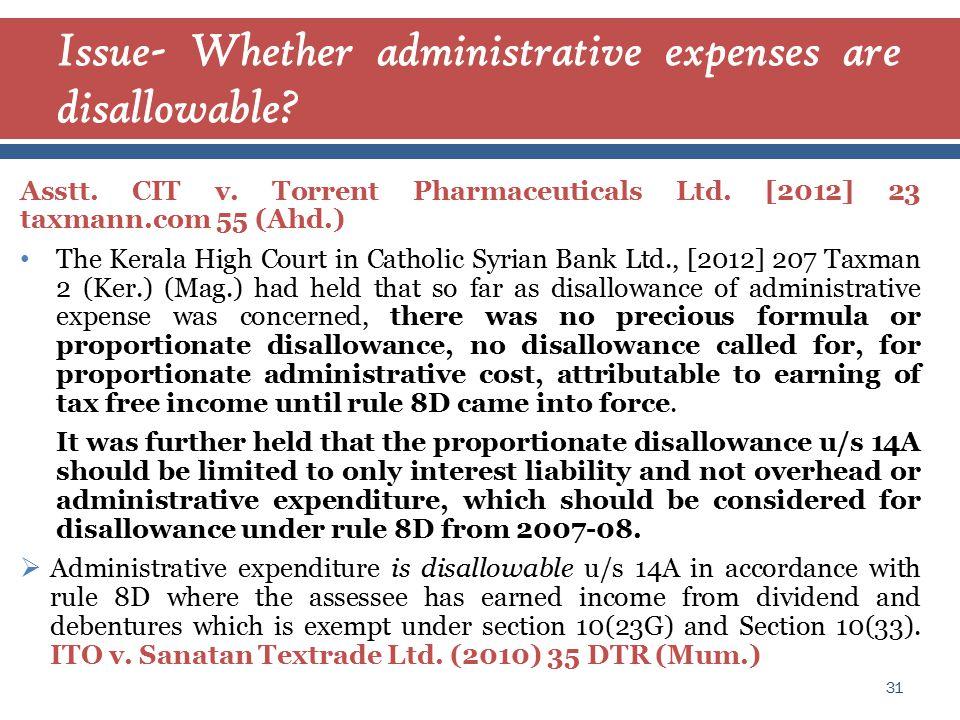 Asstt. CIT v. Torrent Pharmaceuticals Ltd.