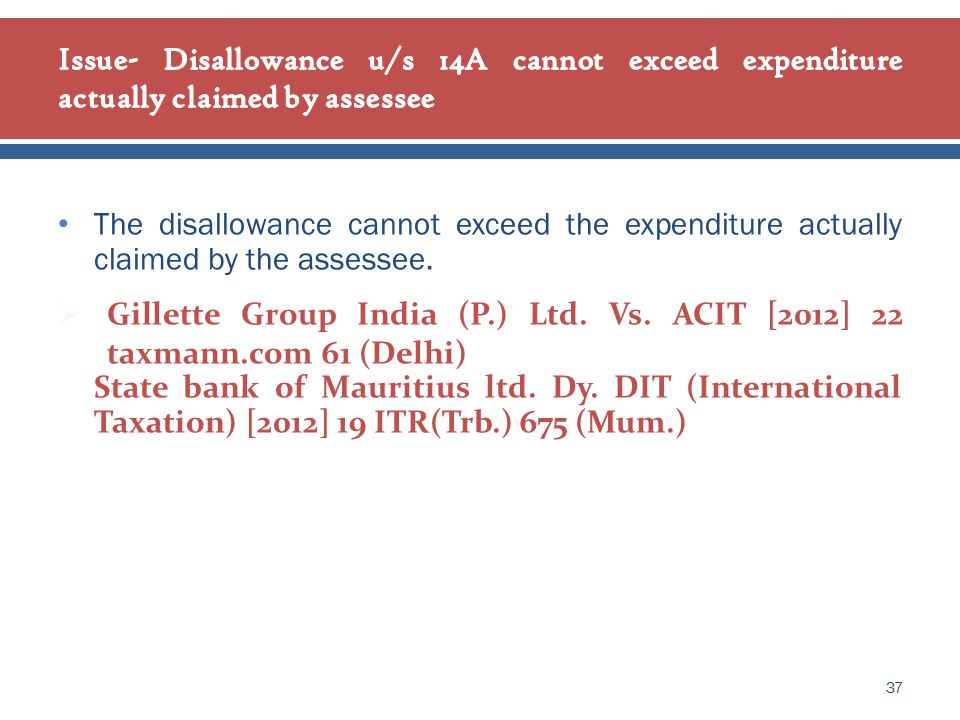 The disallowance cannot exceed the expenditure actually claimed by the assessee.