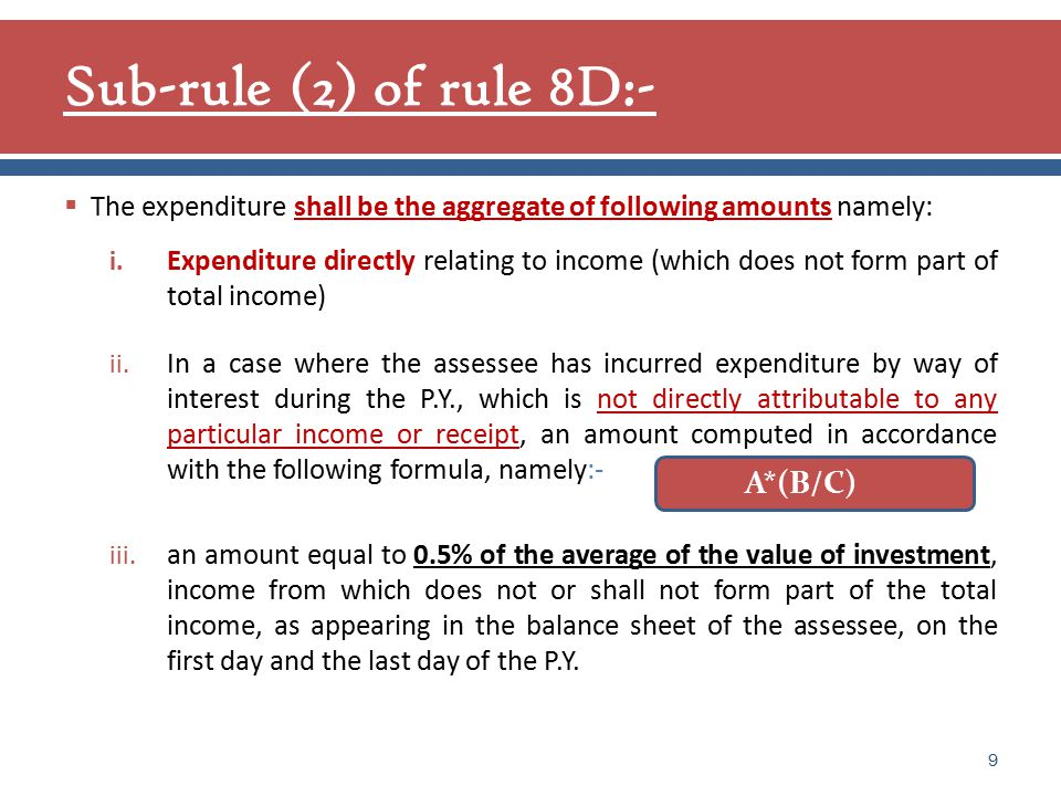= amount of expenditure by way of interest other than the amount of interest included in clause (i) incurred during the P.Y.