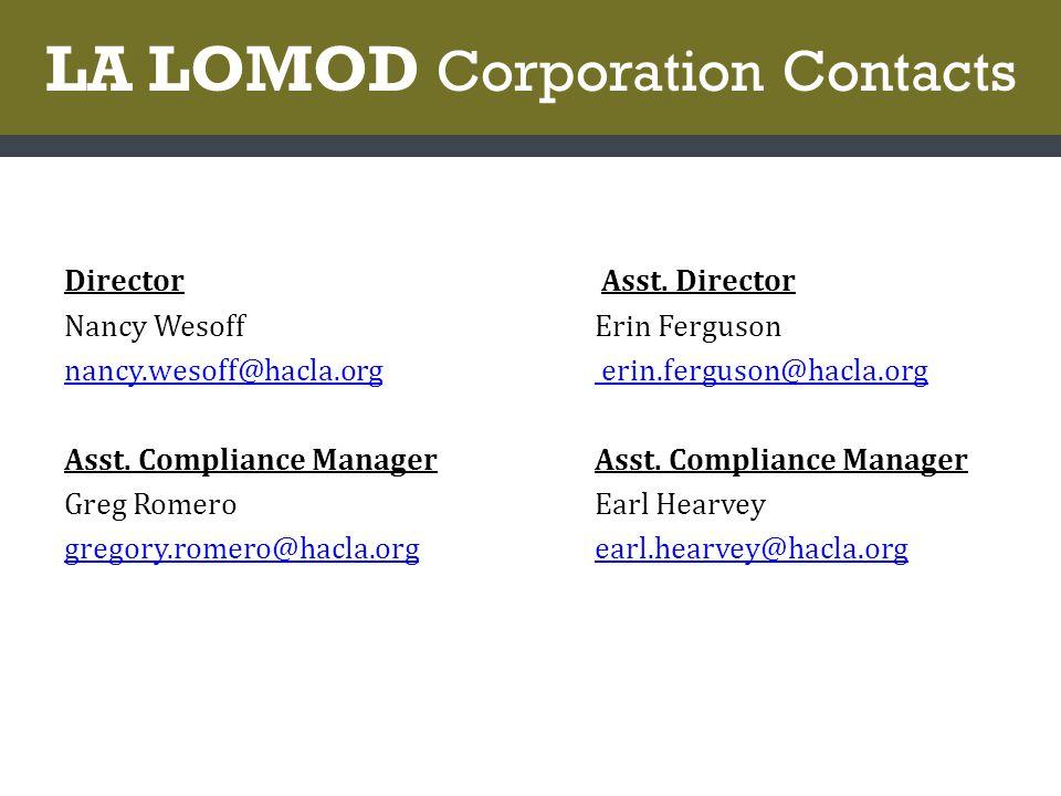LA LOMOD Corporation Contacts Director Asst.