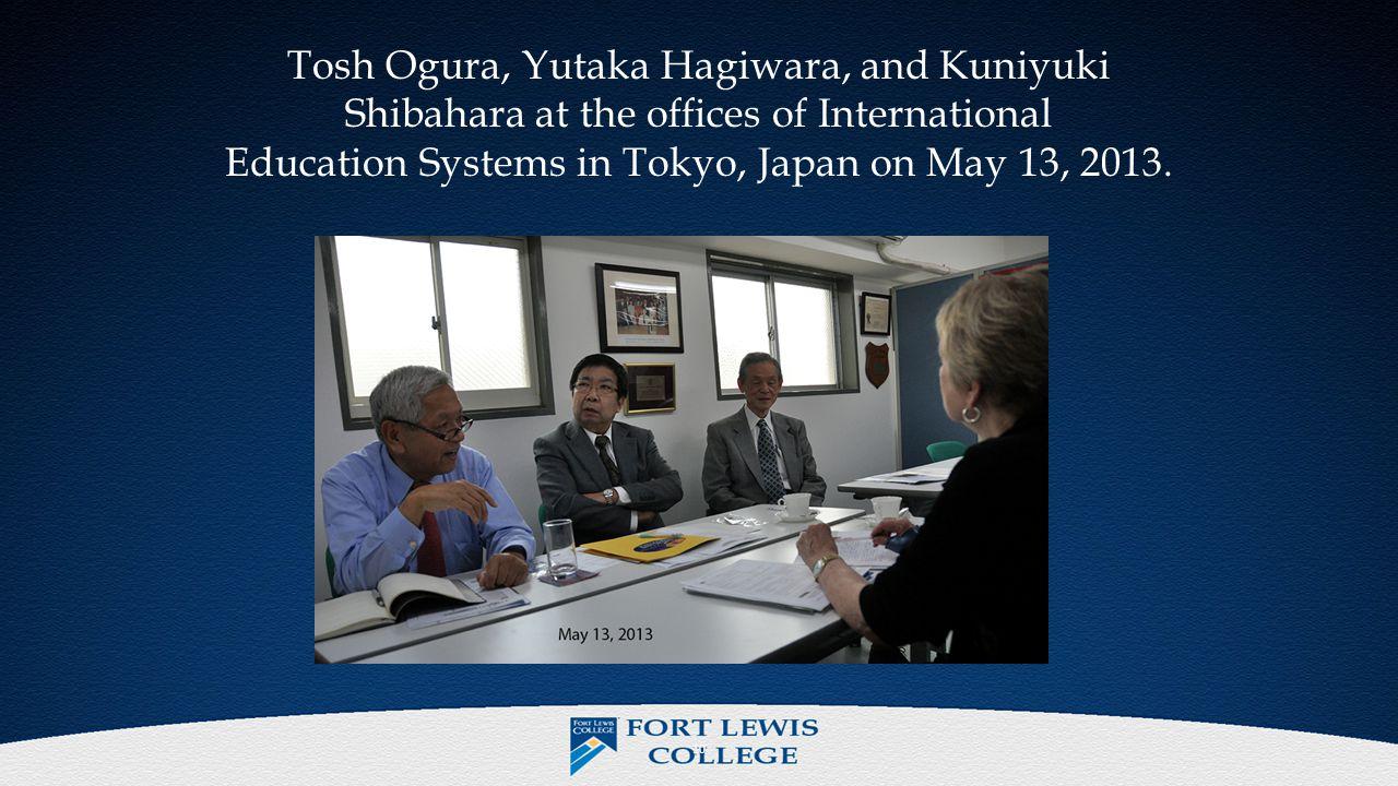 10 Tosh Ogura, Yutaka Hagiwara, and Kuniyuki Shibahara at the offices of International Education Systems in Tokyo, Japan on May 13, 2013.