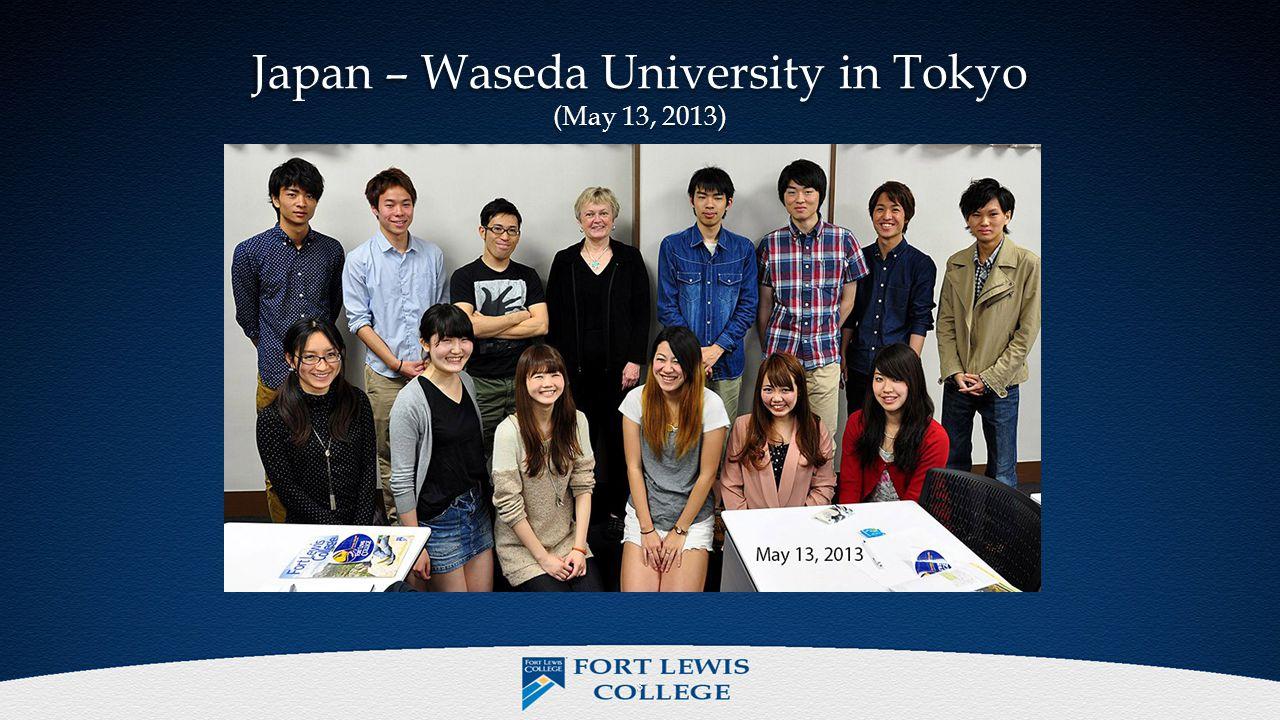 Japan – Waseda University in Tokyo (May 13, 2013) 8