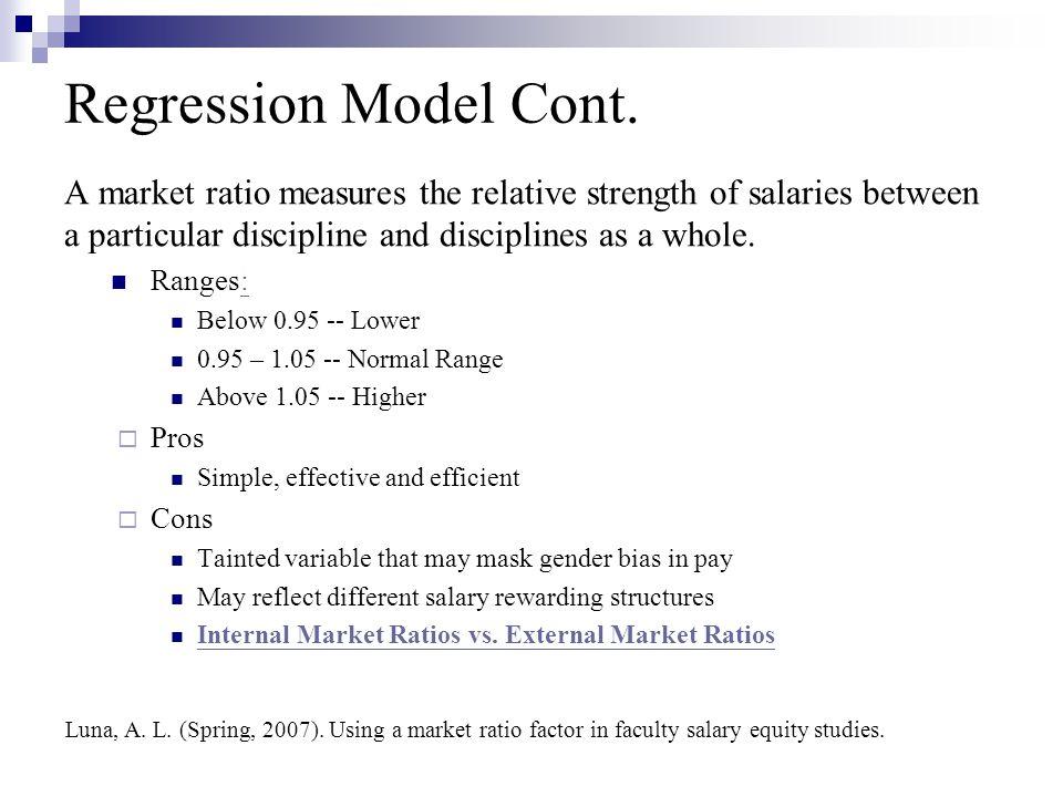 Regression Model Cont.