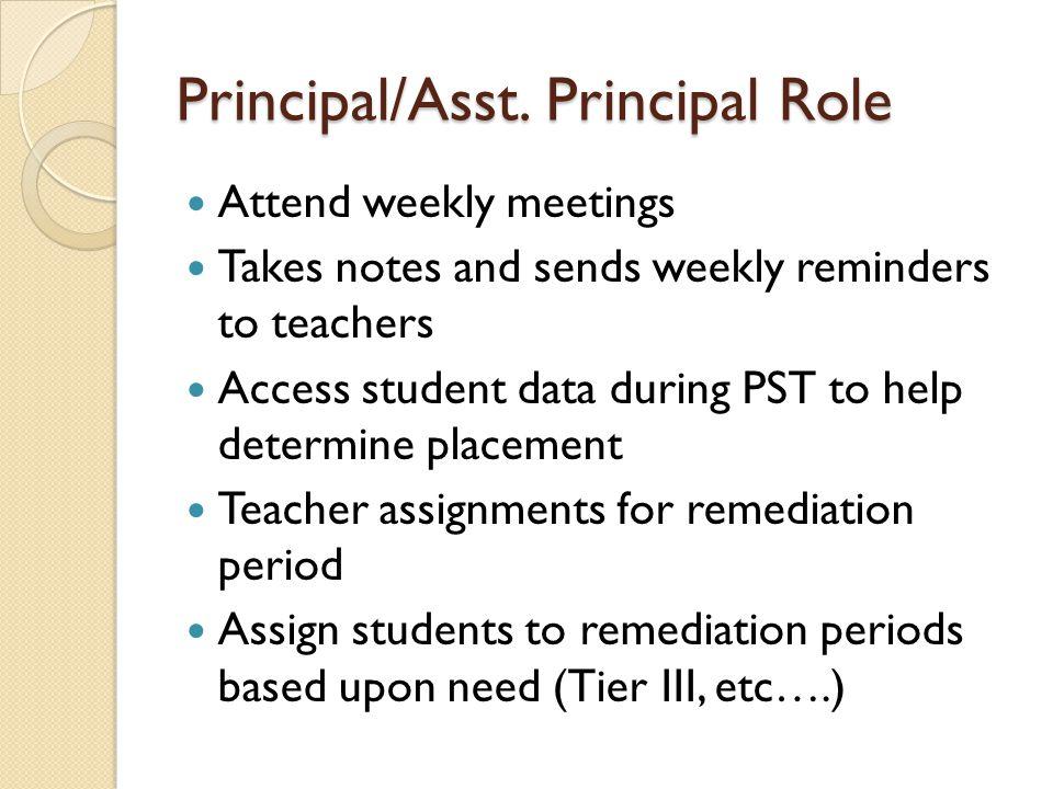 Principal/Asst.