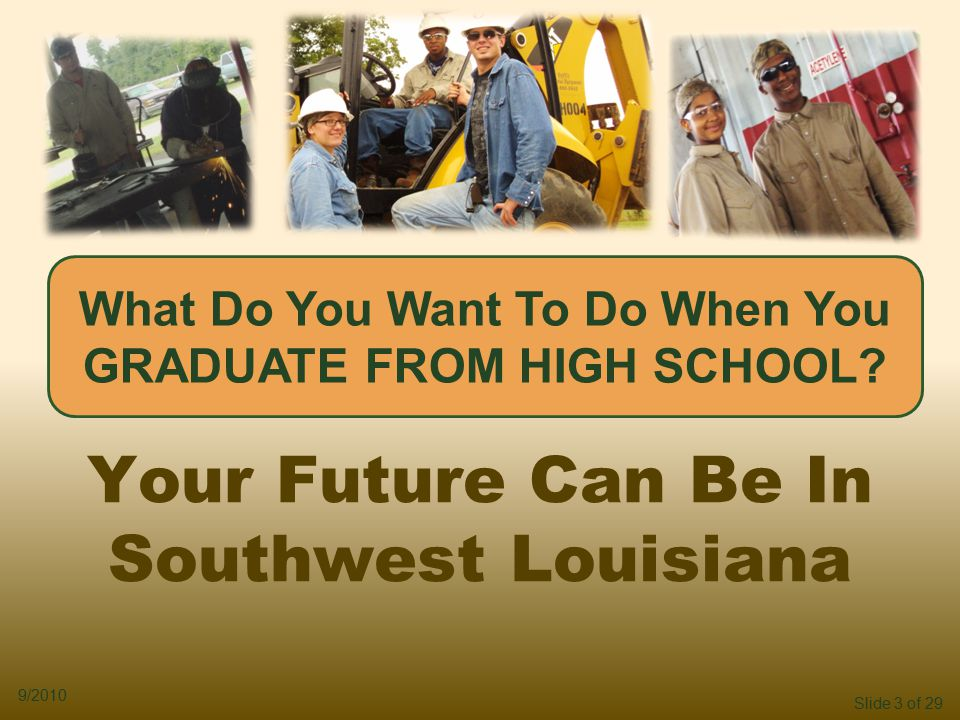 Slide 3 of 29 9/2010 What Do You Want To Do When You GRADUATE FROM HIGH SCHOOL.