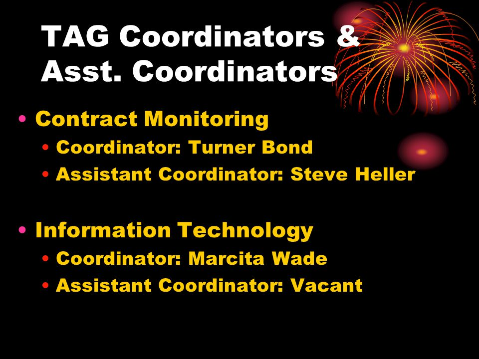 TAG Coordinators & Asst.