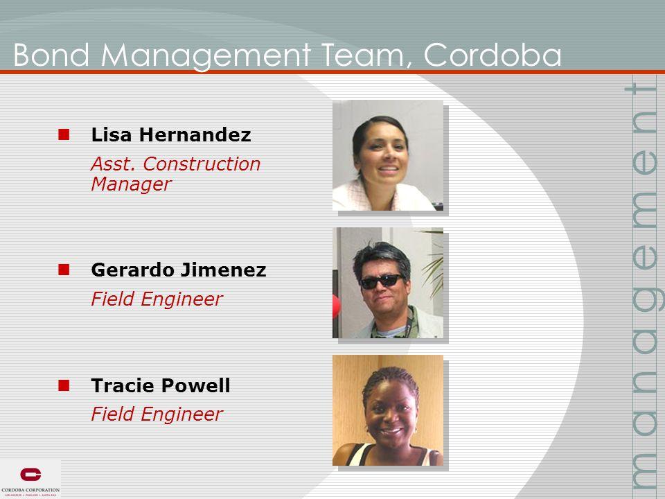 Bond Management Team, Cordoba Lisa Hernandez Asst.