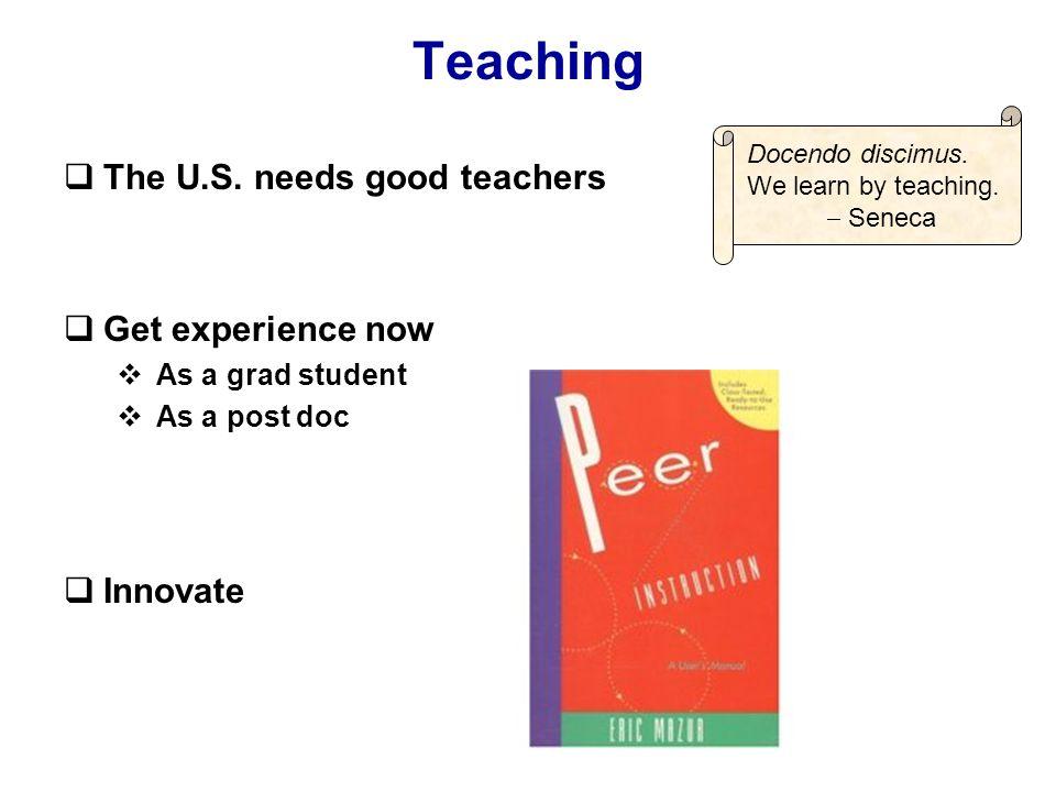 Teaching  The U.S.