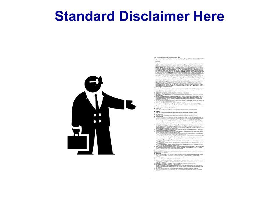 Standard Disclaimer Here
