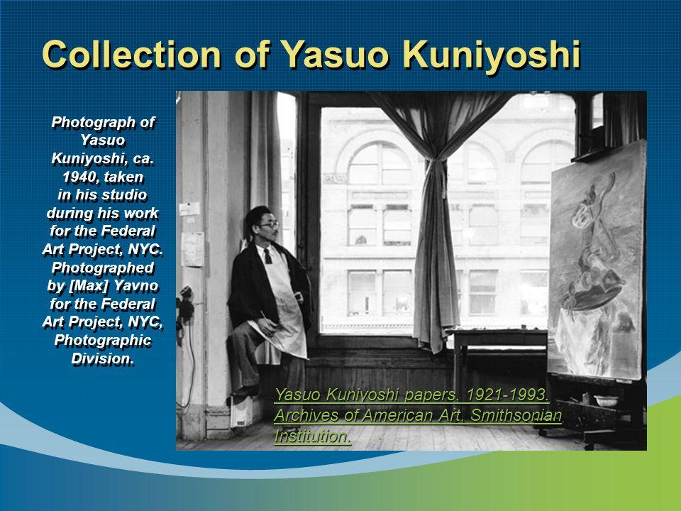 Photograph of Yasuo Kuniyoshi, ca.