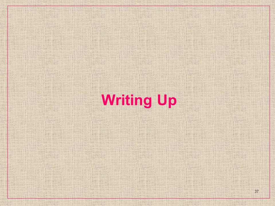 Writing Up 37