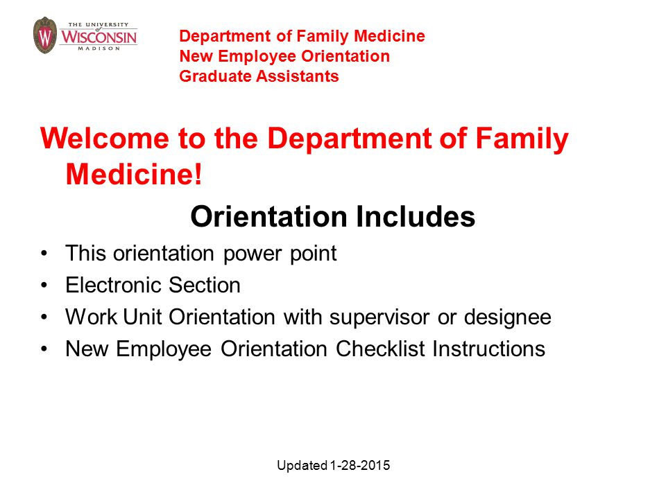 Welcome to the Department of Family Medicine.