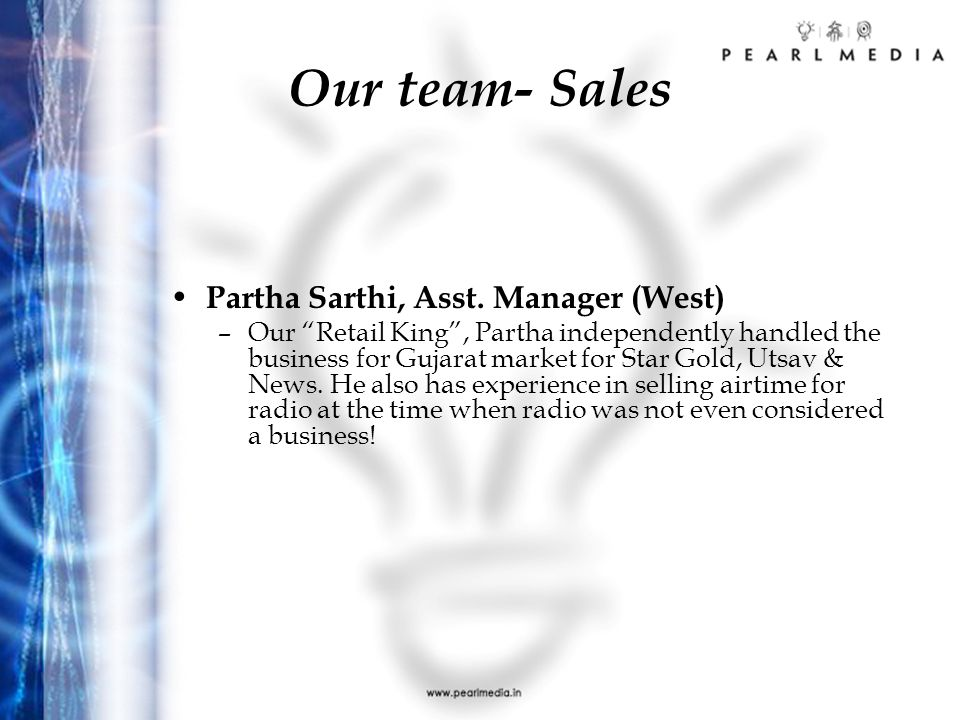Our team- Sales N. S. Easwaran, Sr.