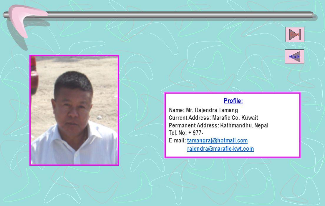 Profile: Name: Mr.Sujan K.C.