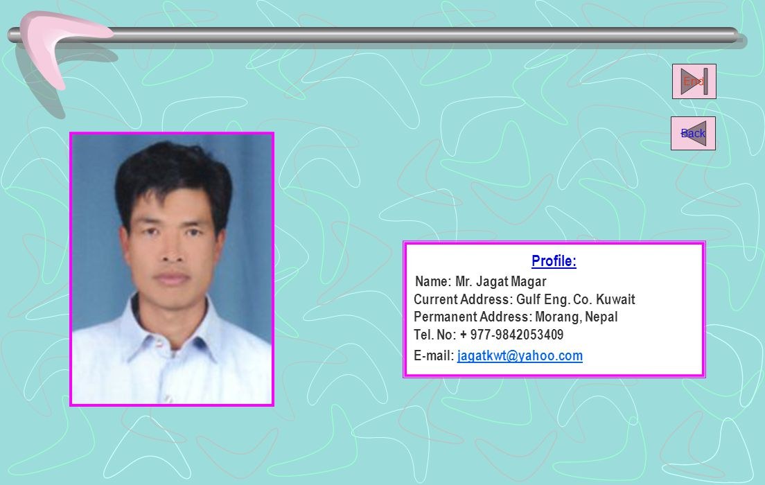 Profile: Name: Mr.