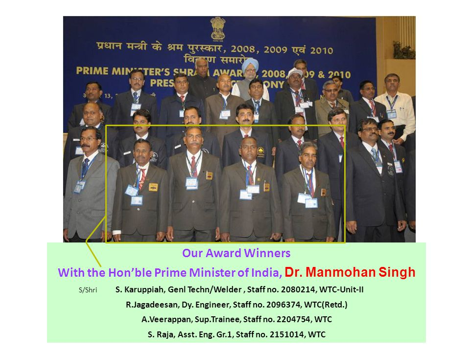 Our Award Winners With the Hon'ble Prime Minister of India, Dr.