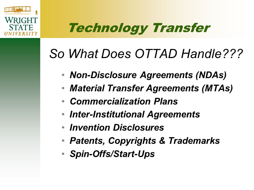 So What Does OTTAD Handle .
