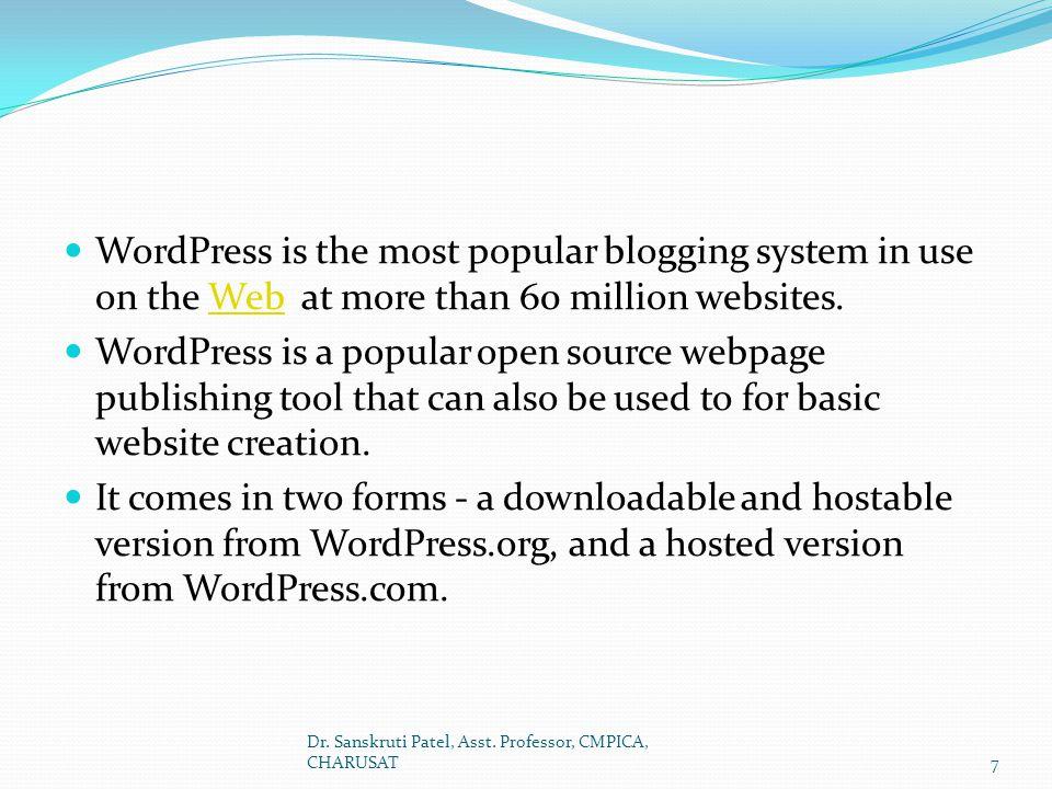 The help tab The drop down help tab has: On the left side: General WordPress help.