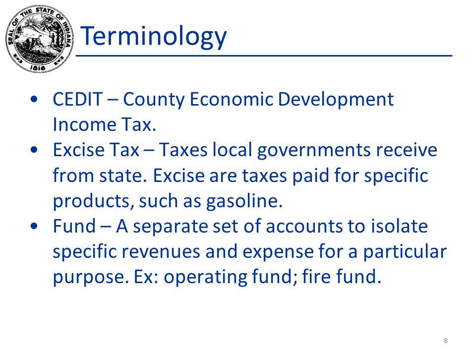CEDIT – County Economic Development Income Tax.