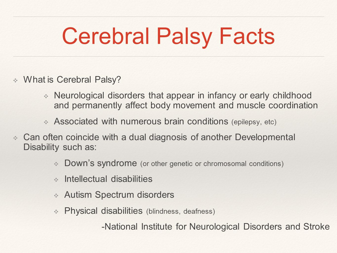 Cerebral Palsy Facts ❖ What is Cerebral Palsy.