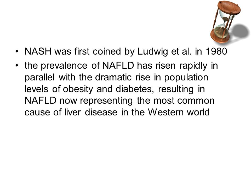 NASH was first coined by Ludwig et al.