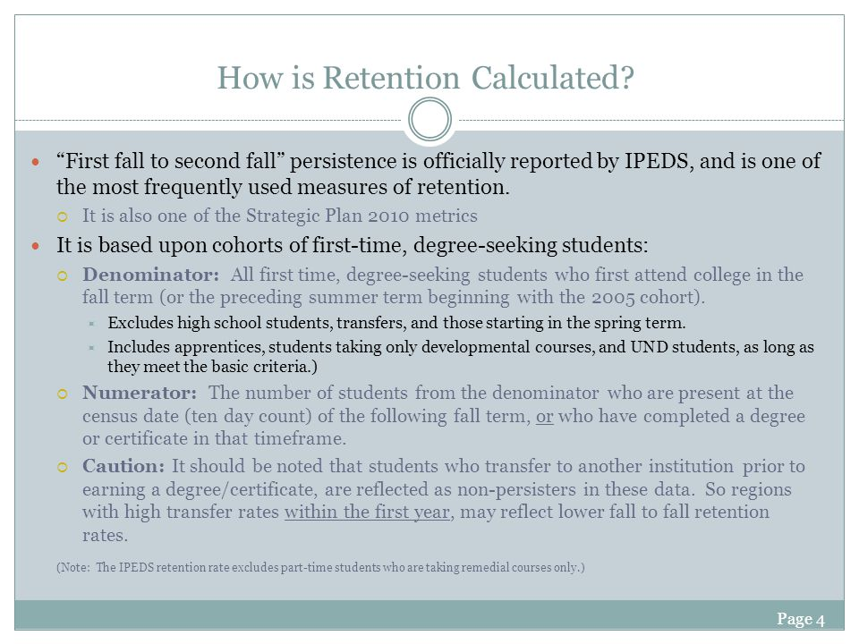 Page 4 How is Retention Calculated.