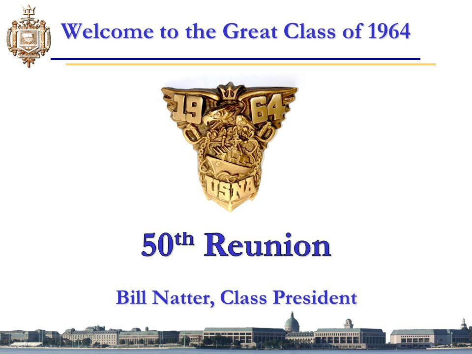 Welcome to the Great Class of 1964