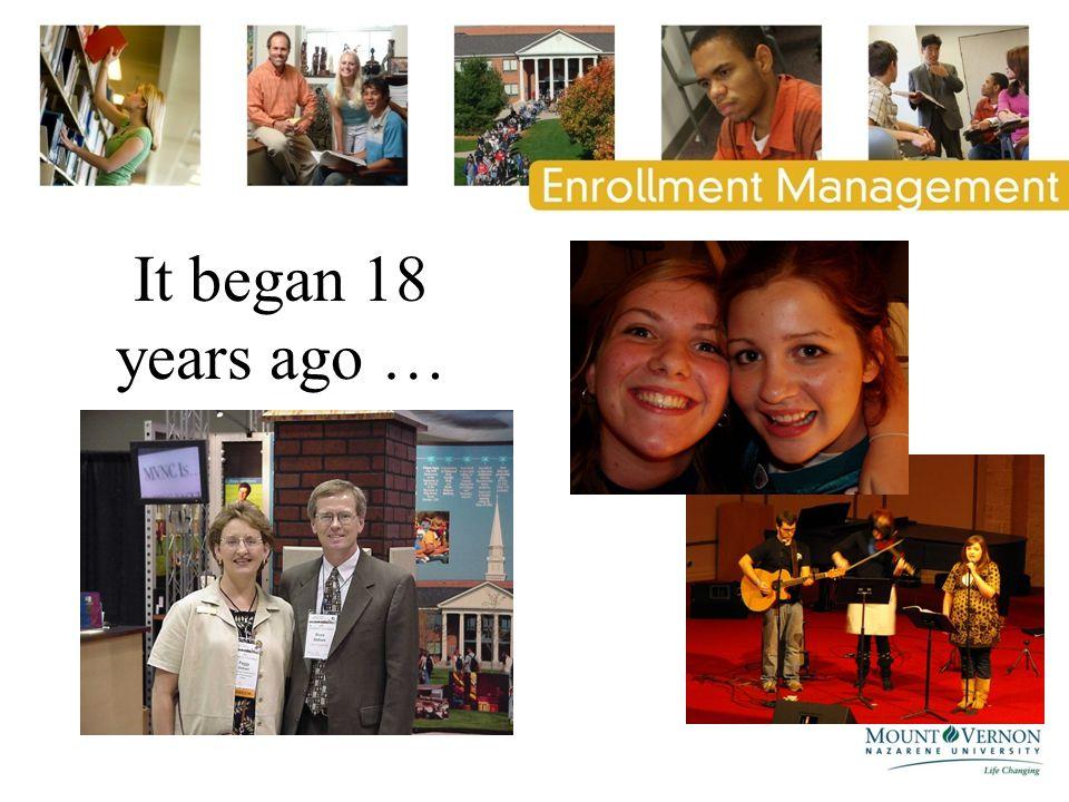 It began 18 years ago …